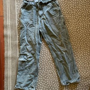 Vintage Carhartt Distressed Army Green Jeans 33x32